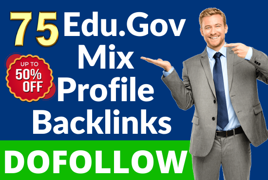 75 Dofollow DA-90 & Pr9 Edu/Gov+Profile Backlinks From - White Hat SEO