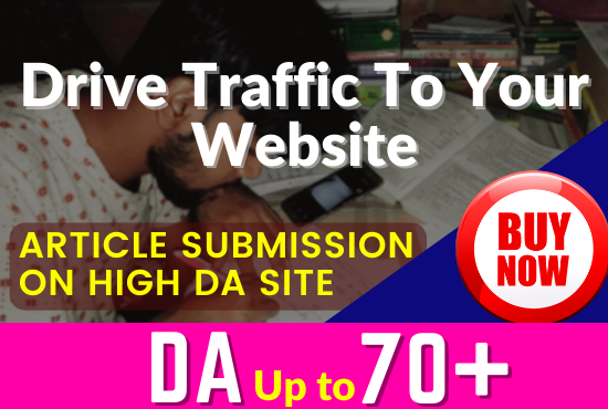 I will do 70 Manual Article Submission