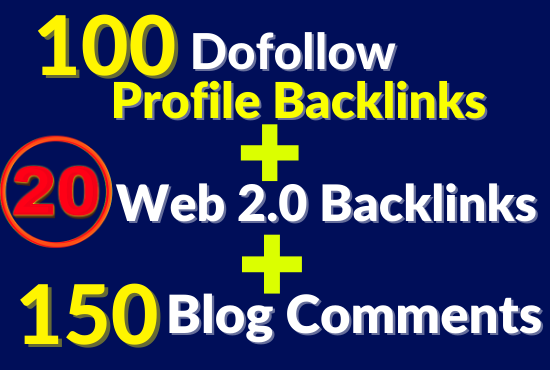 Latest And Manually Done Combine Backlinks Package To Improve Your Ranking Toward Page 1
