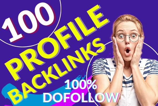 100 Dofollow 80+DA PA Pr9 Profile Backlinks creations SEO Link building