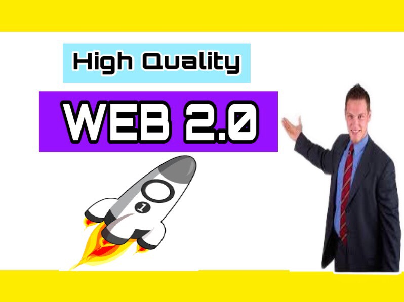 I will Build 25 high DA/PA WEB 2.0 backlinks
