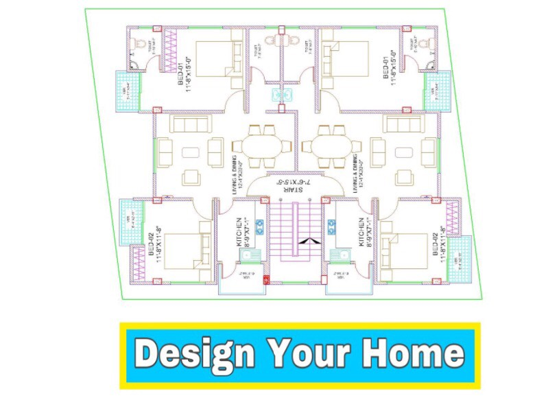 I will create Your Bulding 2D FLOOR PLAN Design with Full of Details