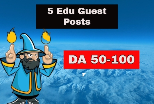 Write & Publish 5 EDU Guest Posts DA 70 to 90+ Dofollow Permanent Backlinks