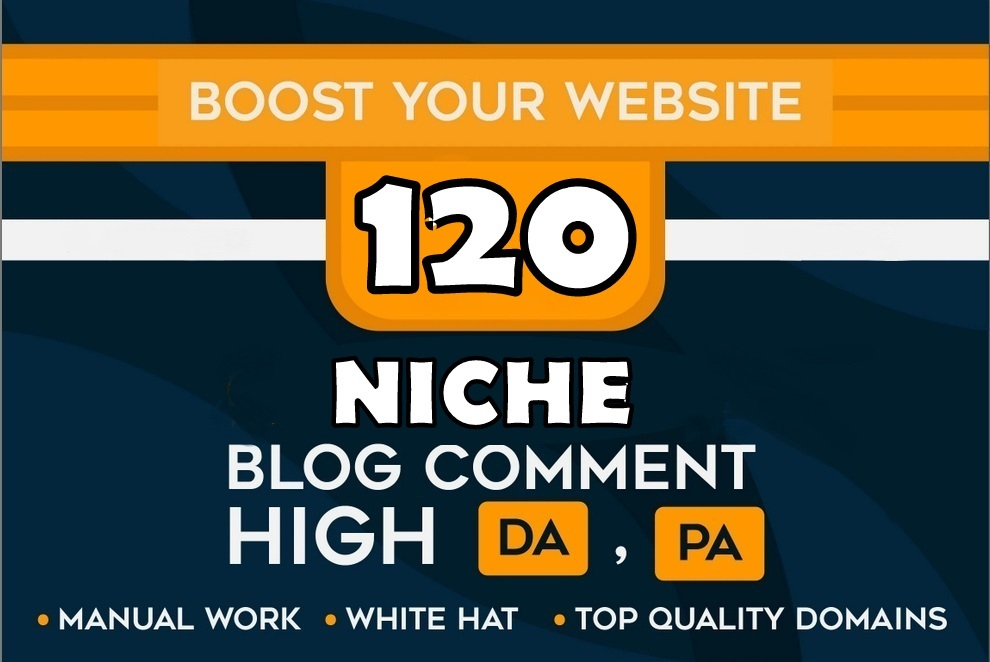 Manually Create 120 Niche Relevant Blog Comments Backlinks