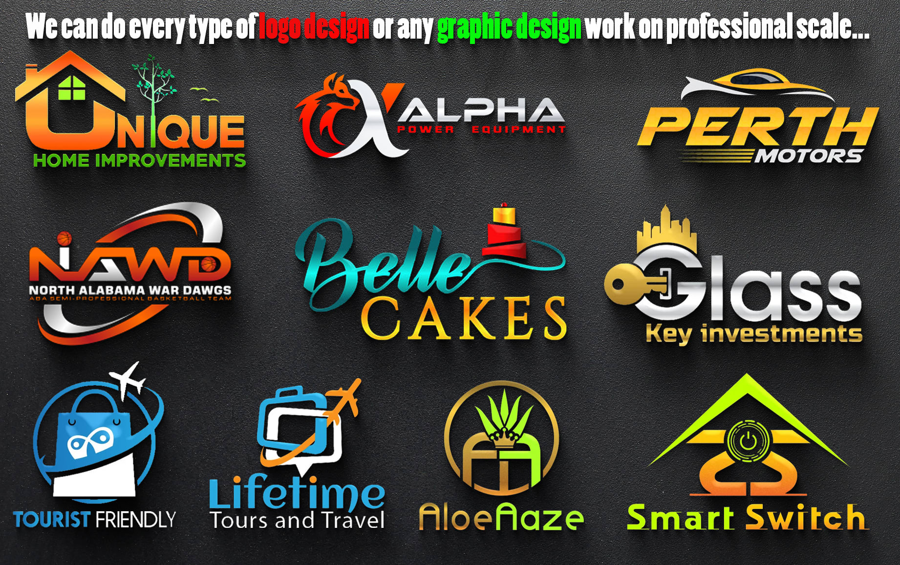 I will do premium custom minimalist font logo with full brand identity