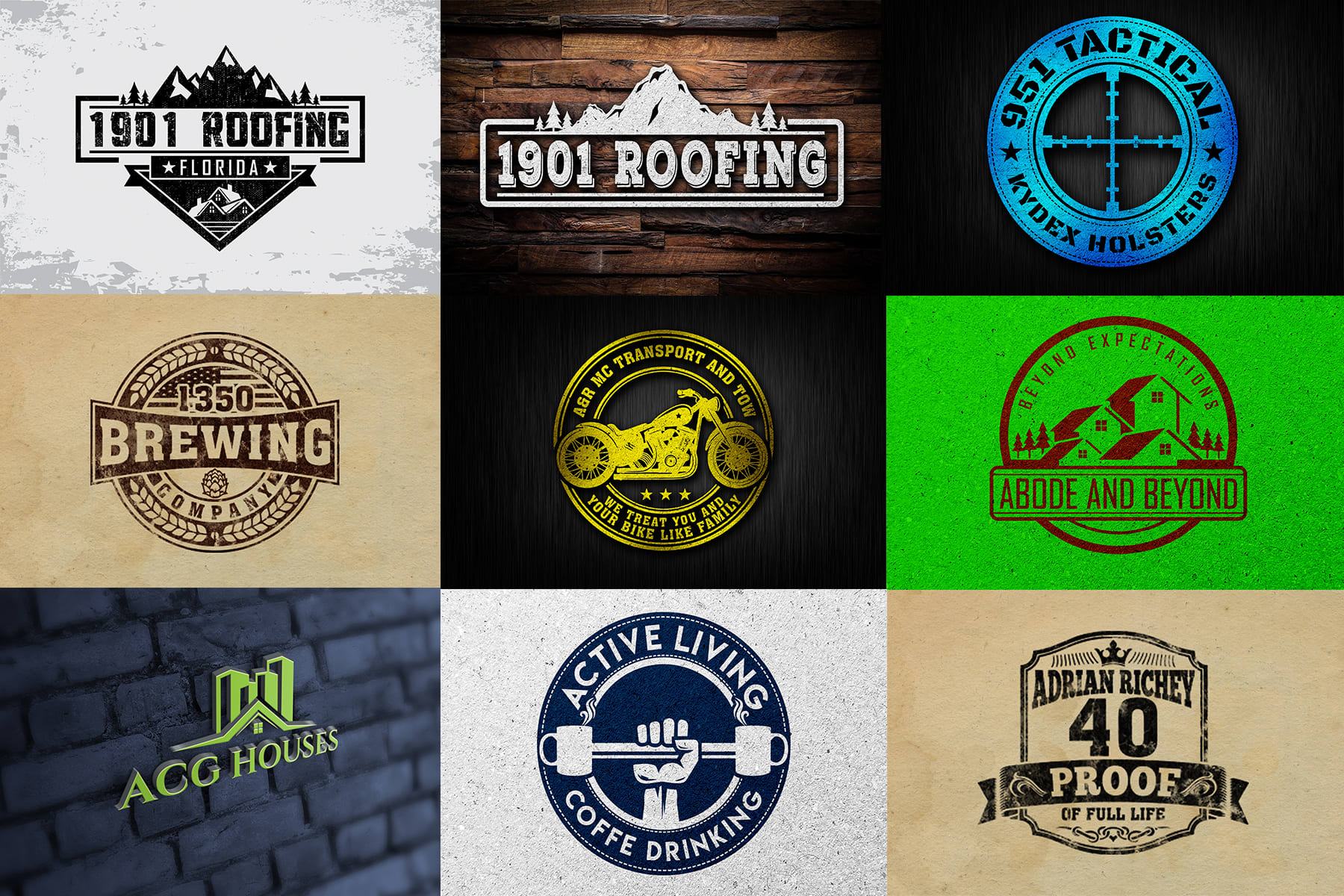 I will make your logo and design anything related your brand