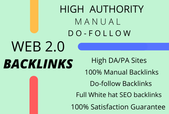 I will build 70 manual high quality web 2.0 backlink