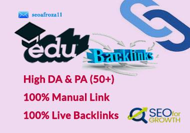 I will create 20 Edu & Gov High Authority SEO link building backlinks