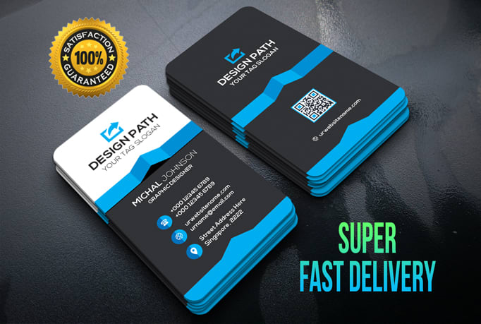 I will create 4 different business card designs in beautiful 5 hours