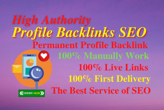 14 Profile backlinks High Authority link building permanent natural