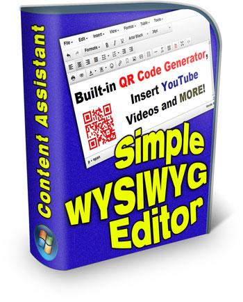 Simple WYSIWYG Editor OR Code Generator, insert YouTube videos.