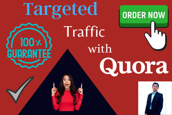 Guarranted niche relevant targeted traffic with 50 quora answers