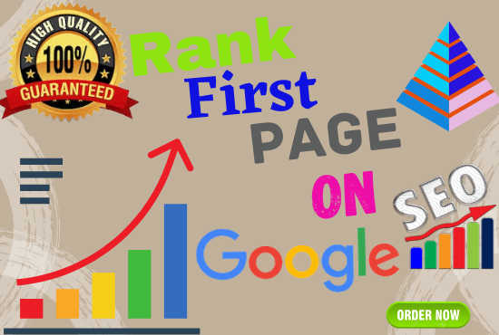 I will offer for you guaranteed Google 1st page ranking with best linkbuilding service