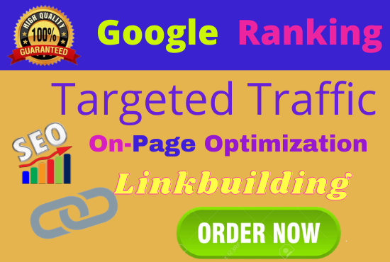 I will Offer you guaranteed Google 1st page ranking with best linkbuilding service