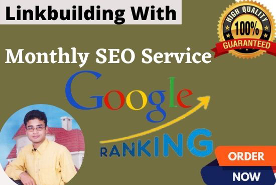 I will offer for you guaranteed Google 1st page ranking with best linkbuilding