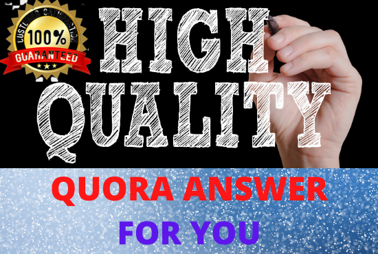 30 High Quality Quora Answers Posting With Guaranteed Targeted Traffic
