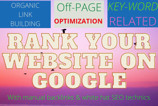 Guaranteed Monthly SEO Service First Page Ranking with linkbuilding
