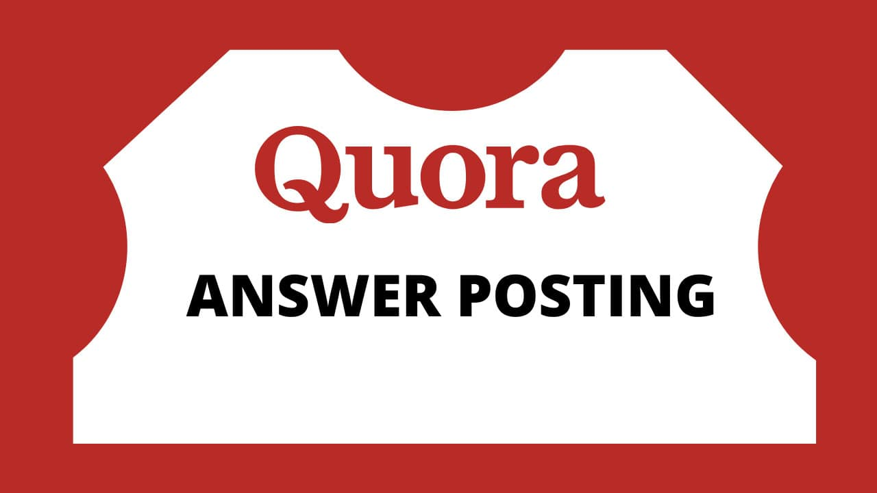 I will do some organic traffic with 10 high quality quora answers for your website