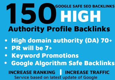 150 High Authority Manually Create Profile Backlinks