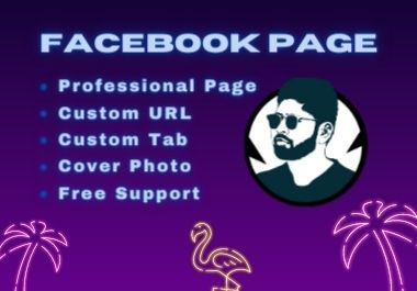 I will design and create facebook page