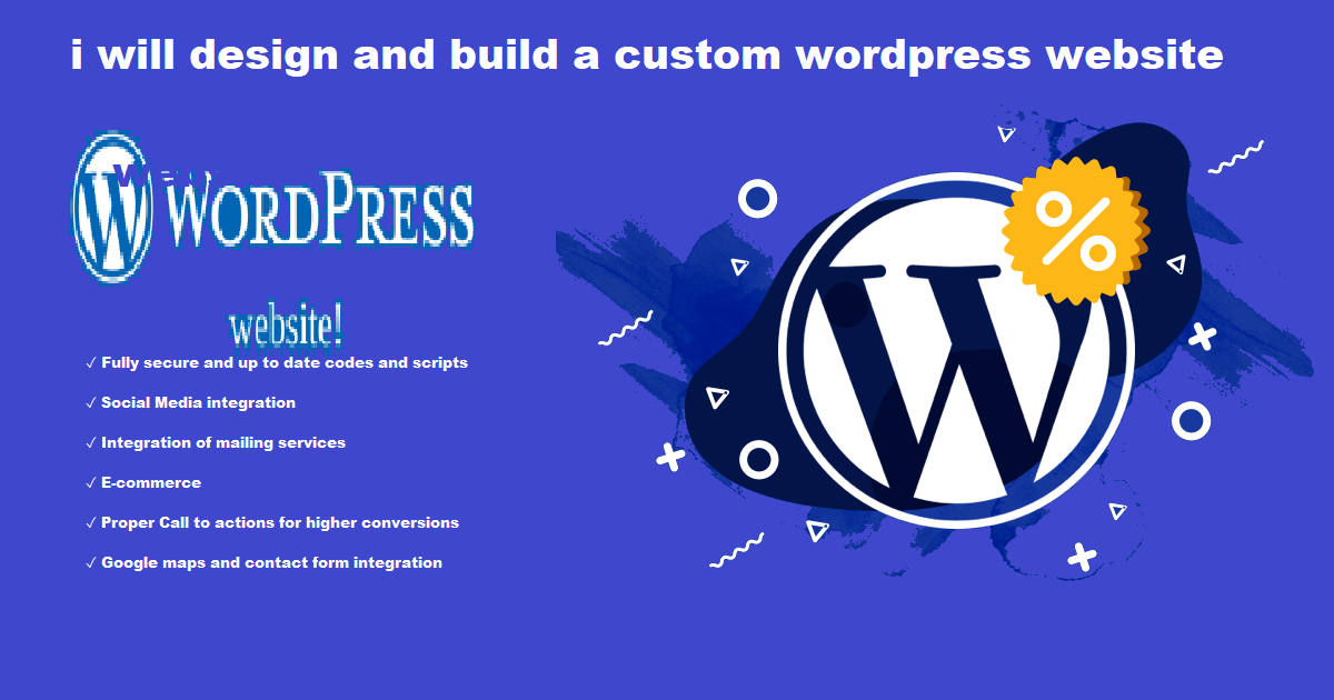 i will design and build a responsive wordpress website