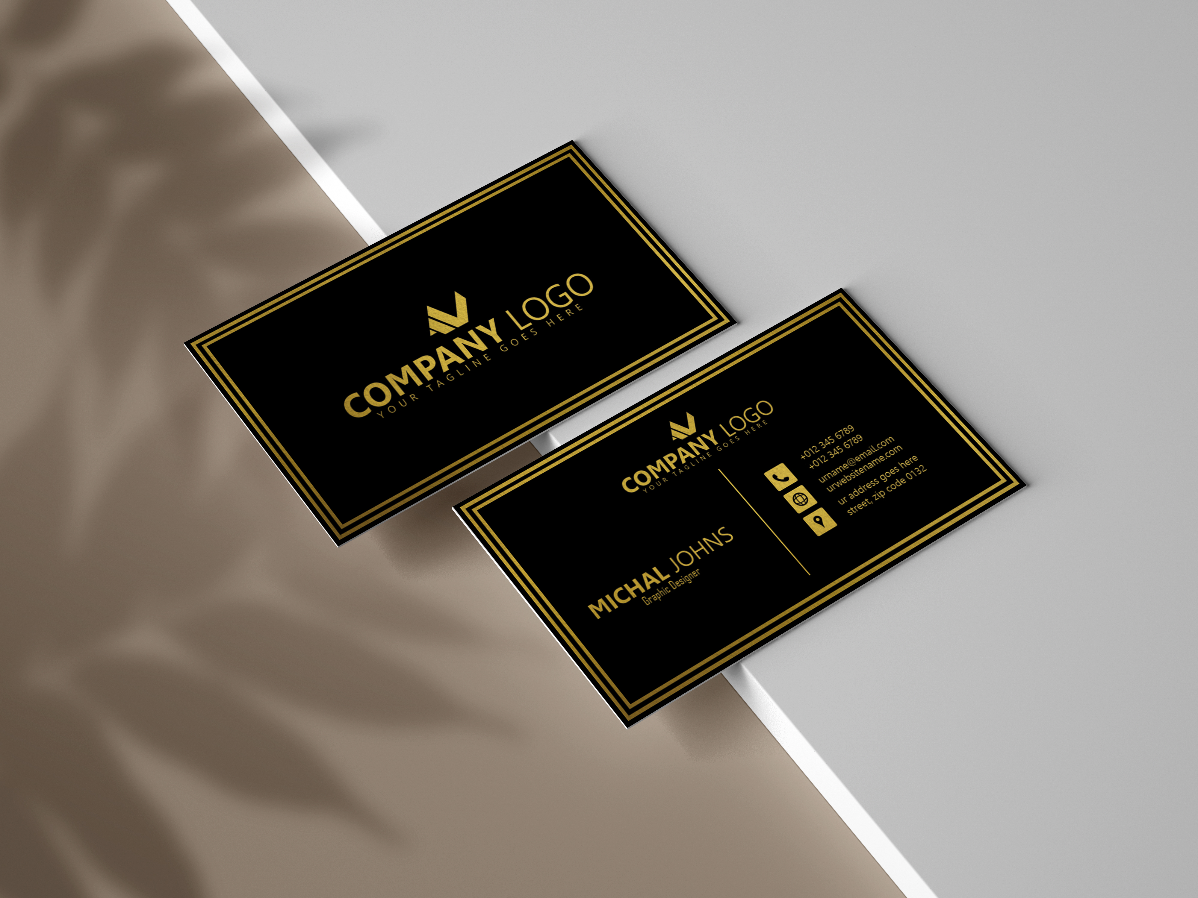 I will do luxury and modern business card