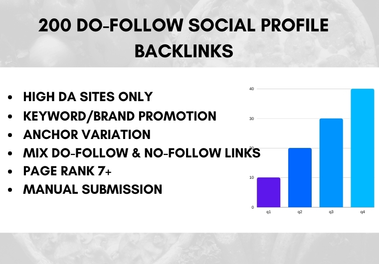 I will create 10. Gov/. Edu Backlinks+200 High Authority do-follow Profile Backlinks