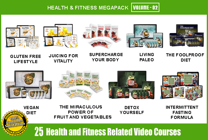 Offer 25 Health and Fitness Video Course Mega Pack Volume - 02 with Full Resell Rights