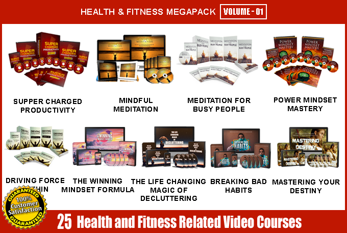 Offer 25 Health and Fitness Video Course Mega Pack Volume - 01 with Full Resell Rights