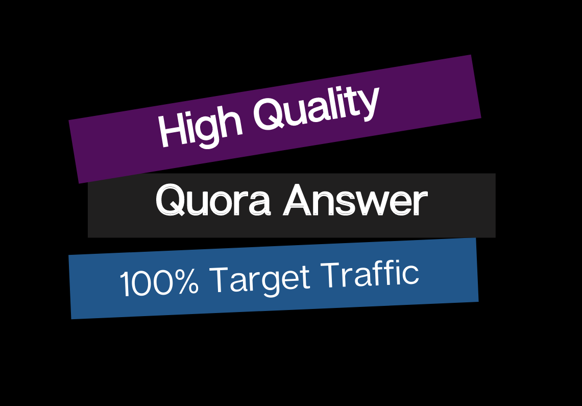 I will Create 40 Niche Relevant Quora Answers for getting Traffic