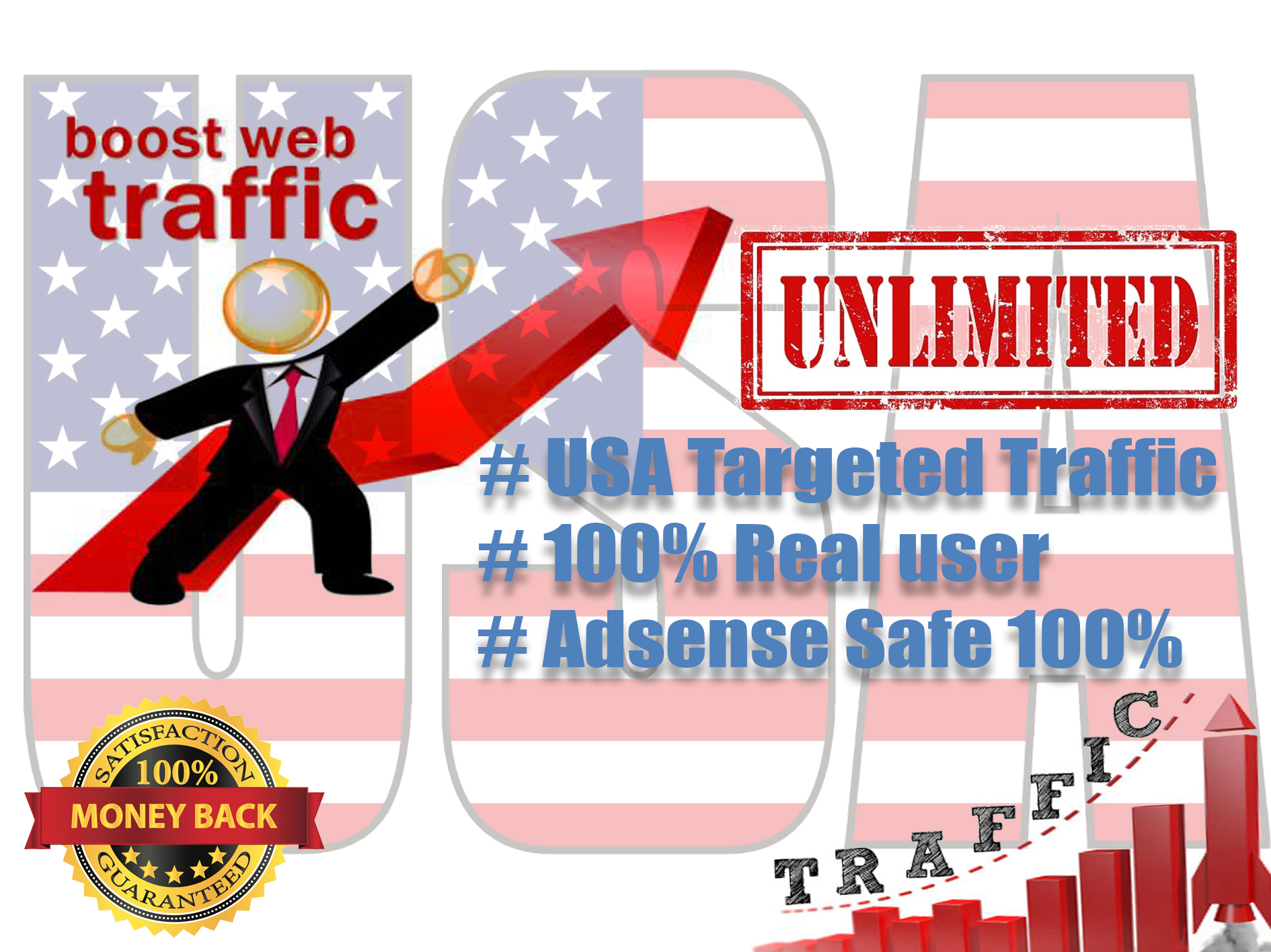 i Will give You Unlimited USA Website Traffic For 20 Days Adsense safe