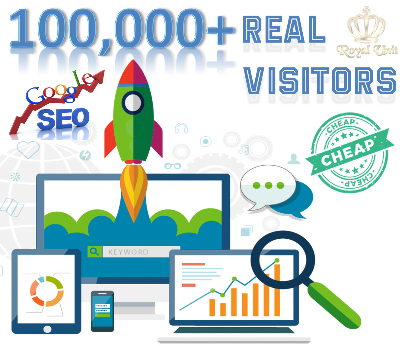 10,000 Real Human Website Traffic for 10 days.