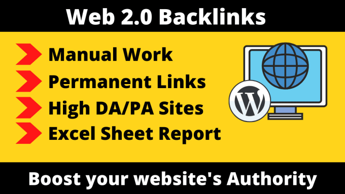 I will build 10 high quality Web 2.O Backlinks with high DA and PA