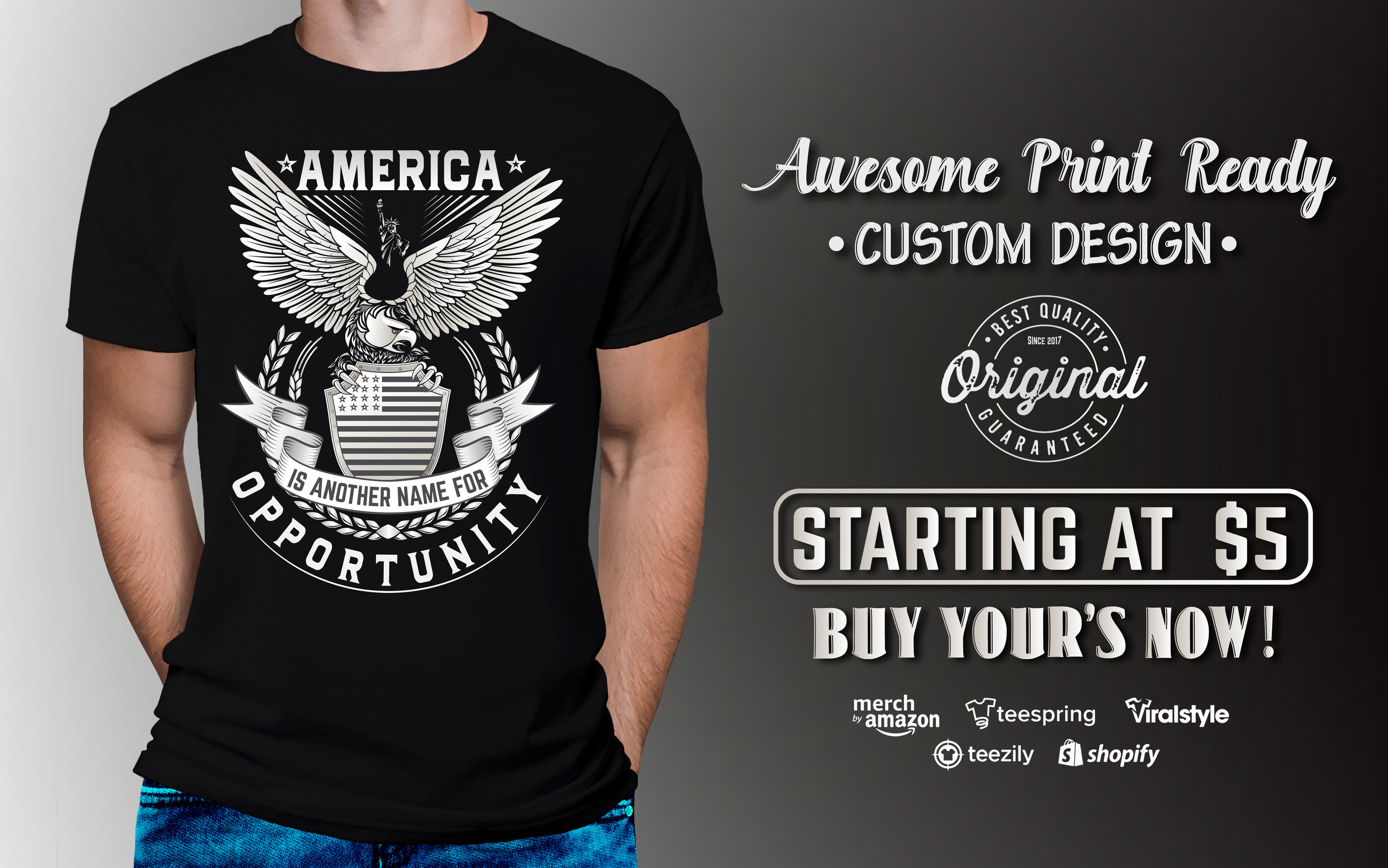 I will make awesome custom graphic or typography t shirt design