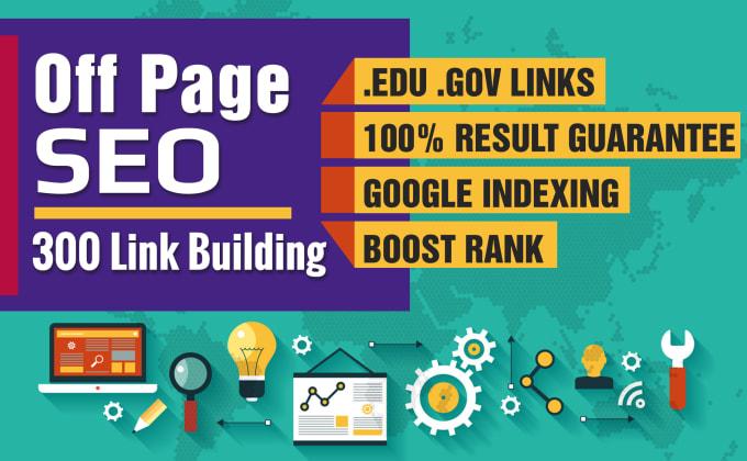 I will do 300 high quality backlinks on edu gov
