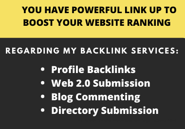 I Will Create 100 High Authority SEO Backlinks Including 4 categories Services