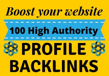 100 high quality Profile Backlinks with DA 70+