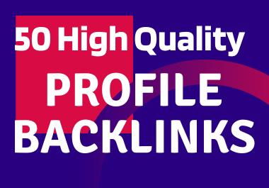 Provide 50 high quality Social Profile Backlinks manually