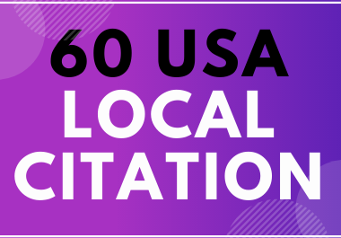 60 USA Local Citation For Boost Your Business