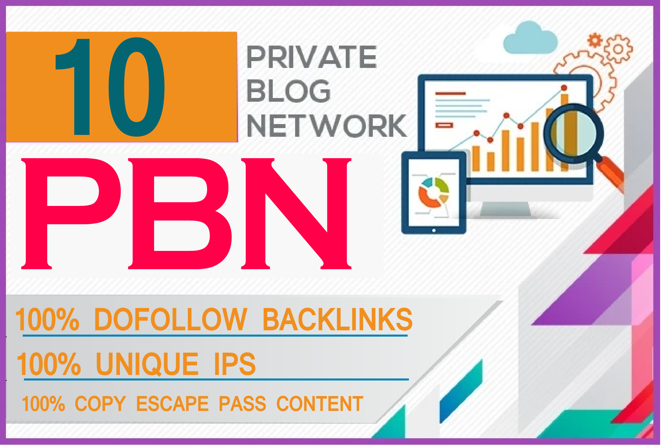 I will build 10 homepage permanent pbn backlinks on high da dofollow sites