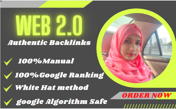 Build DA 80+ High Quality Web2.0 Authentic post backlinks
