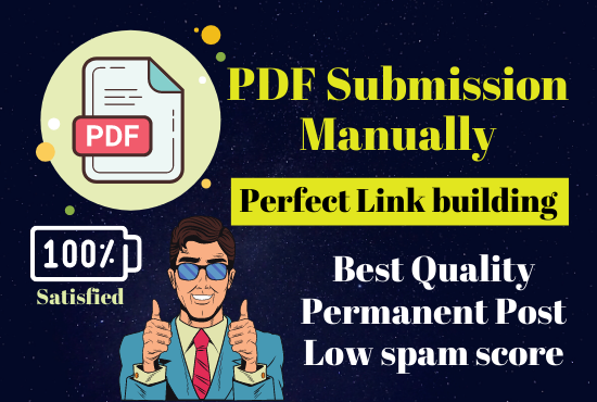 Physically 32 PDF Submit on high Authority Site Permanent post Low Spam Score site