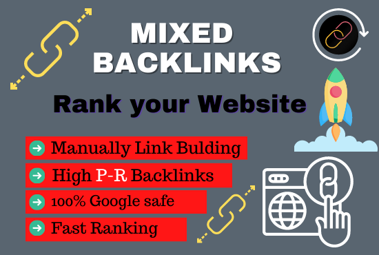 Make Manually 32 High DA Unique Domain Backlinks Mixed Platforms help to ranking fast on google