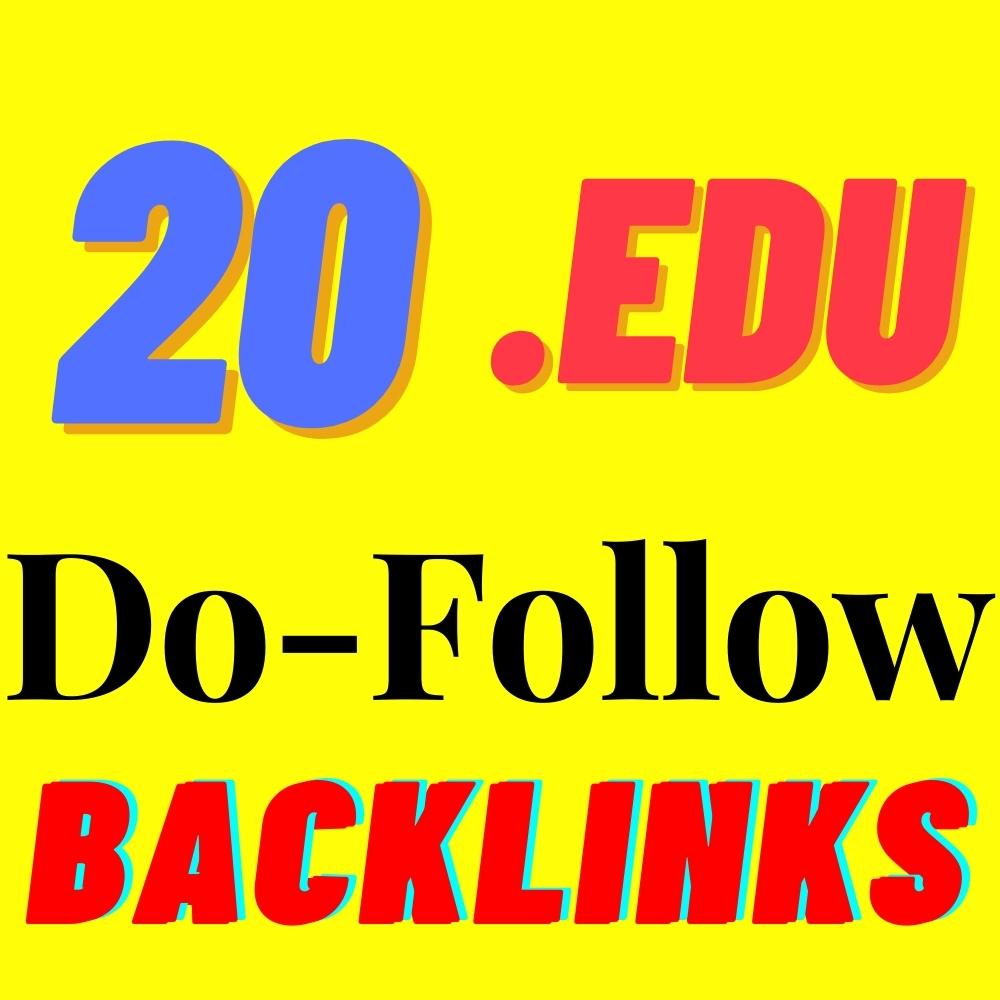 20 EDU Backlinks From Big Universities Manually Created