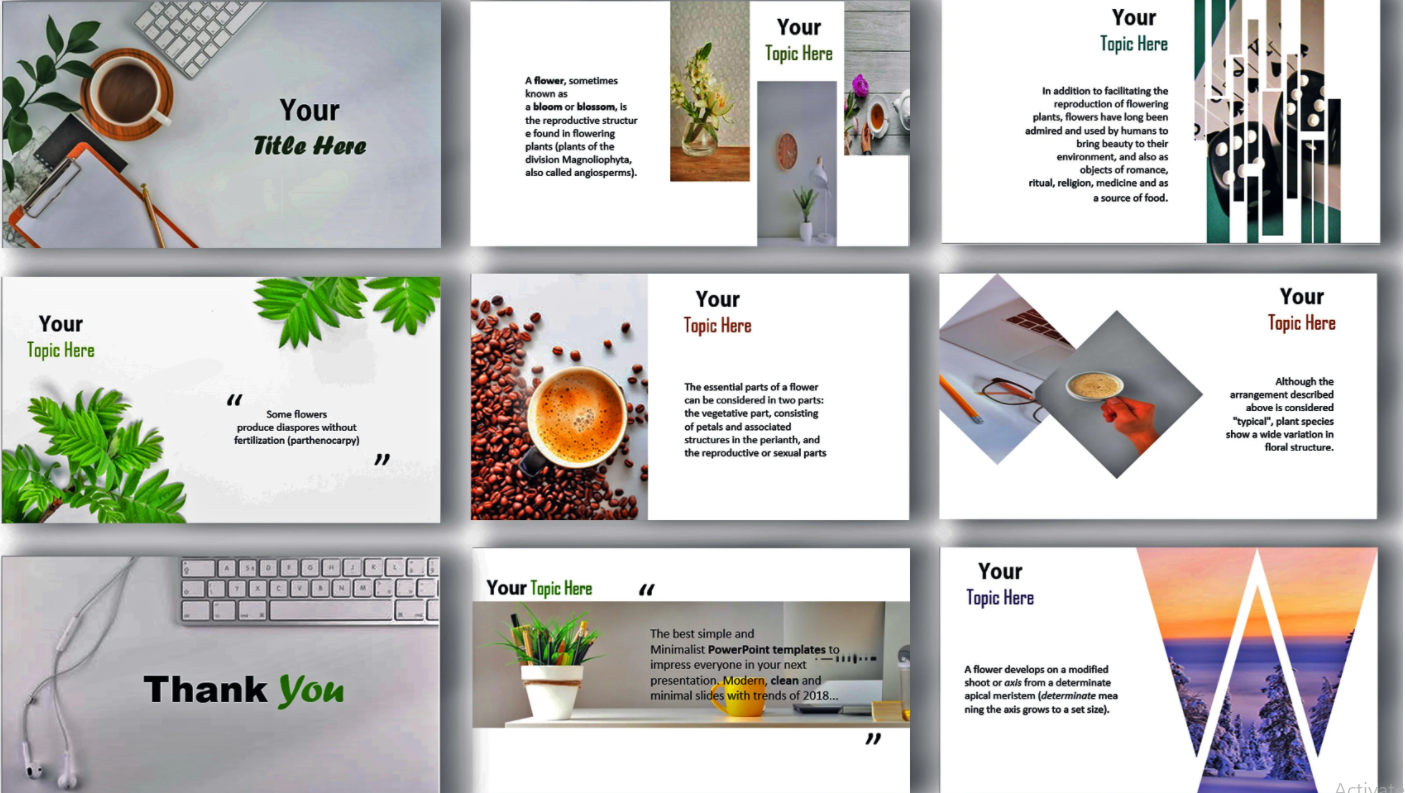 I will design a professional and modern powerpoint presentation beautifully