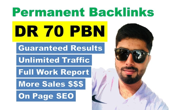 create DR 70 homepage backlinks permanent and do follow