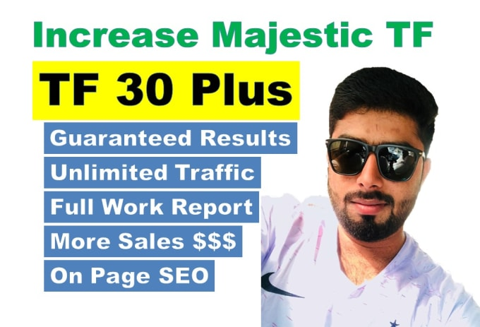 increase majestic trust flow tf up to 30 plus