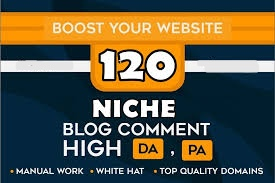 120 Dofollow Niche Relevant Blog Comment Backlinks High DA PA Manual Moz Autority