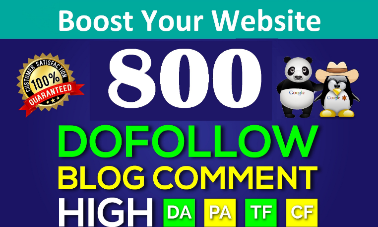 800 Dofollow Blog Comments Link building Backlinks High DA PA SEO Ranking Manual