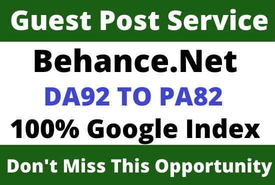 Write & Publish Guest Post on DA92+ Behance. net